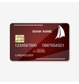 Bank card design template vector image