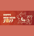 banner with a pig in the style of the tribe and vector image