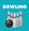 bowling ball and pin background image vector image