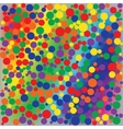 bright rainbow dotted abstract background vector image vector image