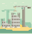 building a house flat vector image