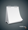 Calender template design background vector image vector image