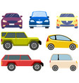 cars different types without drivers set of vector image vector image