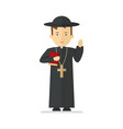 catholic priest character vector image