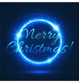 Christmas festive poster with blue glowing circle