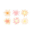 colorful fireworks set design element can be used vector image vector image