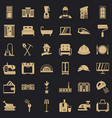 comfortable house icons set simple style vector image vector image