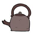comic cartoon old kettle vector image vector image