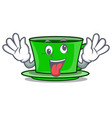 crazy green tea mascot cartoon vector image vector image