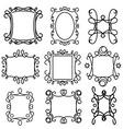 decorative frame line set 2 vector image