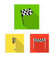 design of car and rally symbol set of car vector image vector image