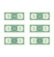 dollars banknote of set 100 and 50 bill vector image