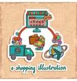 E-commerce design concept vector image