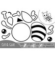 education paper game for children bee vector image vector image
