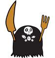 Evil spirit eater Eato cartoon funny vector image