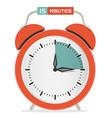 Fifteen Minutes Stop Watch - Alarm Clock vector image