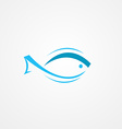 fish logo design background vector image vector image