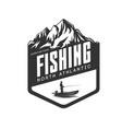 fishing logo fresh seafood template design vector image