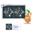 game find 9 differences design vector image vector image
