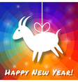Goat Paper on Bright Colorful Rainbow Background vector image vector image