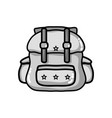 grayscale backpack travel style to expedition vector image vector image