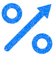 growing percent grunge icon vector image vector image