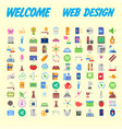 icons online store base set in a flat style vector image