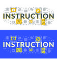 instruction flat line concept for web banner and vector image