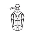 liquid soap outline icon dispenser isolated on vector image