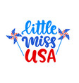 little miss usa hand written ink lettering vector image vector image