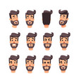 man s head with different emotions cartoon vector image vector image
