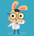 Nerd Doctor Bunny Talking on the Phone vector image vector image