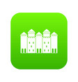 old castle icon green vector image vector image