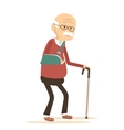 Old Man with Broken Arm vector image vector image