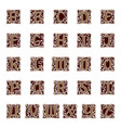 ornamental letter alphabet vintage vector image