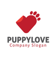 Puppy Love Design vector image