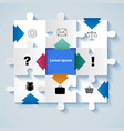 puzzle with icons for business concepts vector image vector image