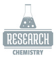 research chemical logo simple gray style vector image vector image