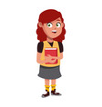school girl cartoon vector image vector image