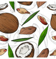 seamless pattern with nuts and seeds vector image