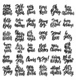 set motivation lettering phrases for postcard vector image vector image