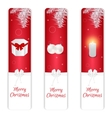 Set of three vertical Christmas banner red and