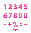 shiny bright colored number set vector image
