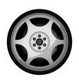 side view sports racing car wheel icon vector image vector image