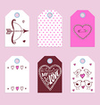 Sketch Valentines tags vector image vector image