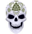 skull with celtic tattoo vector image vector image