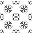 Snowflake icon seamless pattern on white