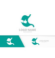 stomach and like logo combination vector image vector image