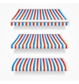 Striped Colorful Awnings Set vector image vector image