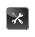 tools icon on a square button vector image